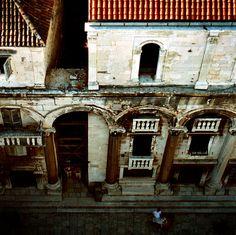 Funky buildings in Split, on the Dalmatian Coast.