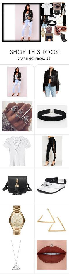 """""""Untitled #18"""" by mnakeeha on Polyvore featuring True Religion, ASOS, WearAll, WithChic, NIKE and Michael Kors"""