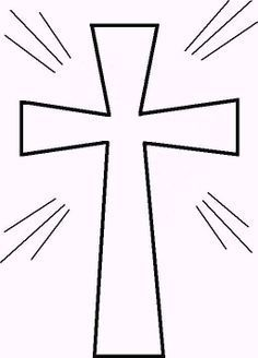 Free Printable Cross Coloring Pages | Pinterest | Free printable ...