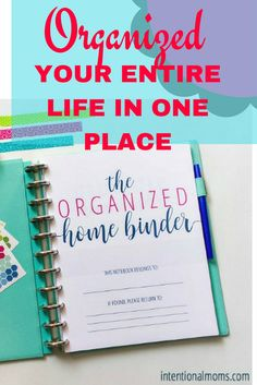 home management binder for busy moms, personal planner, home planner, budget binder, spending tracker, goal setting.