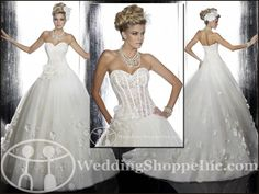 My Wedding Chat » Blog Archive Shop sheer lace corset style wedding dresses today, at Wedding Shoppe Inc.