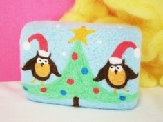 One of a kind Felted Soap