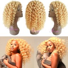 613 Blond Kinky Curly Human Hair Wigs Lace Front with Baby Hair Full Lace Blonde Hair Wig Natural Hairline Descreption: 1.100 density, Full, soft and silky. 2.Can be  Read more http://cosmeticcastle.net/613-blond-kinky-curly-human-hair-wigs-lace-front-with-baby-hair-full-lace-blonde-hair-wig-natural-hairline/  Visit http://cosmeticcastle.net to read cosmetic reviews