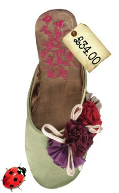Gorgeous little satin mule slippers from the classic Ruby & Ed