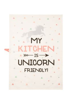 Cream Unicorn Tea Towel