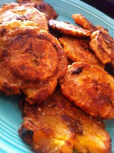 Tostones: Oven Baked Plantains (Yay!  Baked not fried - love these!)