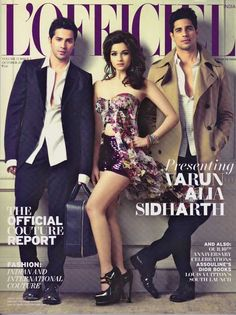 Alia Bhatt with Siddharth Malhotra and Varun Dhawan