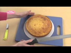 Cake Decorating - How To Trim, Prepare And Cover A Cake With Buttercream