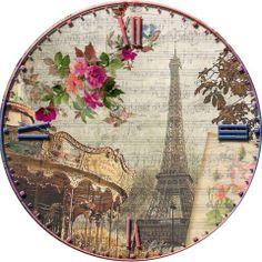 Clock Decoupage Art, Decoupage Vintage, Vintage Paper, Vintage Labels, Vintage Postcards, Vintage Flowers, Vintage Floral, Decoupage Printables, Vintage Theme