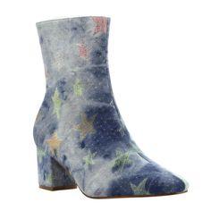 Women's Star Print High Boots