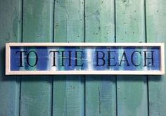 To The Beach House Sign Wall Art Coastal Stripes by CastawaysHall, $49.00