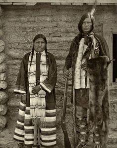 HUNKPAPA COUPLE , circa 1895