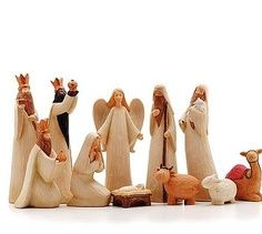 I am waiting for just the right nativity set to display ... this is about what i like. :D