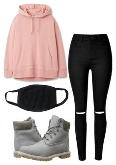 """BTS Jungkook-Inspired Outfit"" by jessy-693 ❤ liked on Polyvore featuring Timberland"