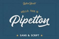 Pipetton Font Duo by letterhend on @Graphicsauthor