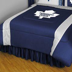 Toronto Maple Leafs Sidelines Comforter - Queen, Blue