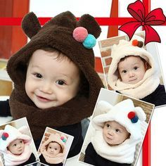 baby hat! Rakuten: To a hat neck warmer for kids having a cute hat bear ear becoming a bear ear baby hat, the bear- Shopping Japanese products from Japan