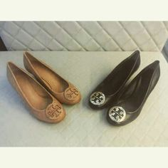 Tory Burch Sally pump wedges Tan and black shw Available sizes please contact us to WA 08122120088 or line cheermeupbff