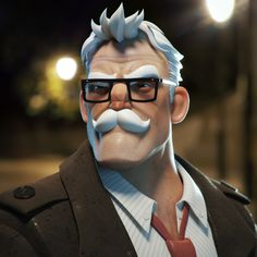 Commissioner Gordon, Hannu Koskinen on ArtStation at https://www.artstation.com/artwork/r0z9G