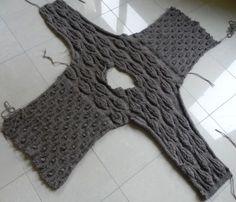 pull feuilles,tricot femme,elle tricote