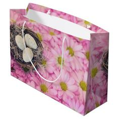 Easter large gift bag happy easter egg holiday family diy custom easter large gift bag flower gifts floral flowers diy negle Gallery