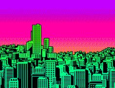 Discover & share this Colorful GIF with everyone you know. GIPHY is how you search, share, discover, and create GIFs. Iphone Wallpaper Vaporwave, Pixel City, Sunrise City, Pixel Animation, Vaporwave Art, Gifs, Skyline, Glitch Art, Tumblr