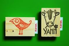 #stamp #stempel #zelfgemaakt #handcarvedstamp #handgesnedenstempel #cowstamp #koestempel #birdstamp #vogelstempel