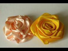 Цветы роз из ткани своими руками -модное украшение. - YouTube