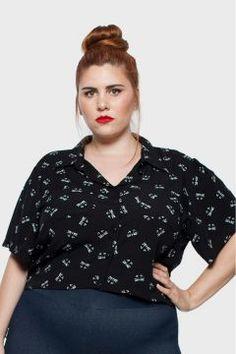 dbe3940a2 Camisa Cropped Gatos Plus Size - Paraíso Feminino