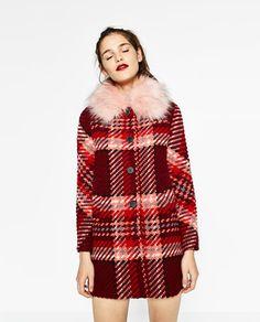 CHECK COAT from Zara