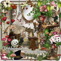 Digital Scrapbooking Kit Queen of Hearts (PU/S4H) by Digidesignresort Digital Scrapbooking Kit Queen of Hearts (PU/S4H) Collab Kit by Digidesignresort [ddr-queenofhearts] - $9.90 : Digidesignresort
