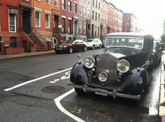 Behind the scenes at the Jazz Age shoot for Elle Germany shoot, taken on the streets of New York. The car featured is a Wraith.