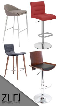 Zuri Furniture is undoubtedly the leader in style for modern bar stools! When you have a Zuri Bar Stool in your home, it speaks volumes about your style. Zuri proudly offers bar stools for your home, office, and commercial environments.