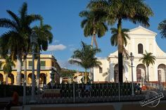 Palacio Brunet and Iglesia Parroquial at the Plaza Mayor in Trinidad, Cuba