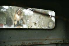 Cracked truck window