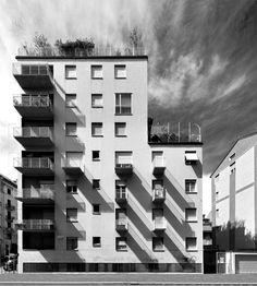 mario asnago e claudio vender - edificio per abitazioni, via faruffini, milano, 1955 [foto di tommaso giunchi]