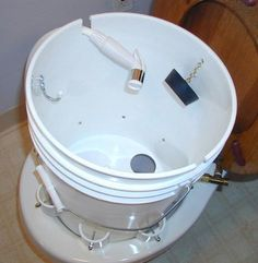"""""""The Potty Pail"""", Cloth diaper rinsing system. Maybe one day?"""