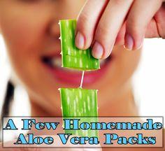 A Few Homemade Aloe Vera Packs