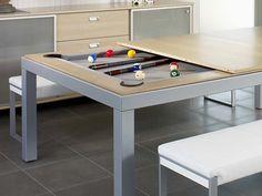 Mesa de billar en acero FUSIONTABLES DINING POOL TABLES by Fusiontables Saluc
