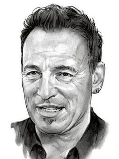 Check out Bruce Springsteen @ Iomoio Bruce Springsteen Albums, Bruce Springsteen The Boss, Realistic Pencil Drawings, Amazing Drawings, Elvis Presley, The Boss Bruce, Vintage Concert Posters, Celebrity Drawings, Celebrity Portraits