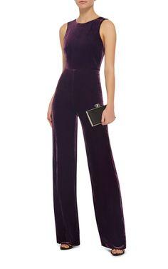 Jules Velvet Jumpsuit by SALONI Now Available on Moda Operandi