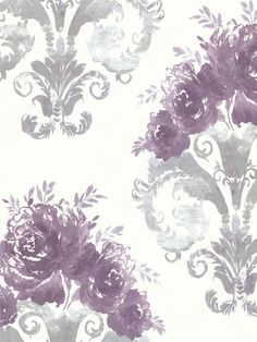 Save 10 On Radiant Orchid Wallpaper Like Olympia Damask Bouquet
