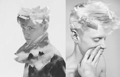 Portraits Blended with Photos of Nature New York-based artist Matt Wisniewski creates digital collages by blending fashion and nature photographs together into surreal images. The images remind us of photographer Dan Mountford's double exposure photographs, except Wisniewski uses digital manipulation rather than in-camera trickery.