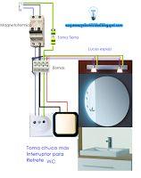 Esquemas eléctricos: Toma chuco más interruptor