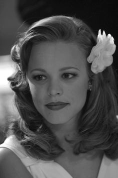 Rachel McAdams in The Notebook. I love her in this movie. Perfection