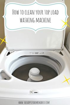 Easy tutorial for cleaning your top loading washing machine!