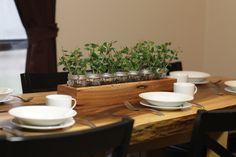 Rustic Table Centerpiece   -  Woodsy Rustic Wedding Decor. $32.00, via Etsy.