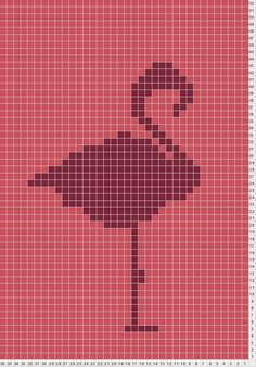 Flamingo is creative inspiration for us. Get more photo about home decor related with by looking at photos gallery at the bottom of this page. Cross Stitch Bird, Cross Stitch Animals, Cross Stitch Designs, Cross Stitching, Cross Stitch Embroidery, Cross Stitch Patterns, Pixel Crochet, Crochet Chart, Loom Beading