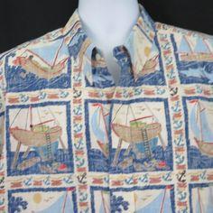 2094a671c Detrich Varez Collection Reyn Spooner Mens Hawaiian Camp Reverse Print  Shirt XL | eBay