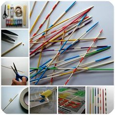 DIY Pickup Sticks! Amazing! Colourful!